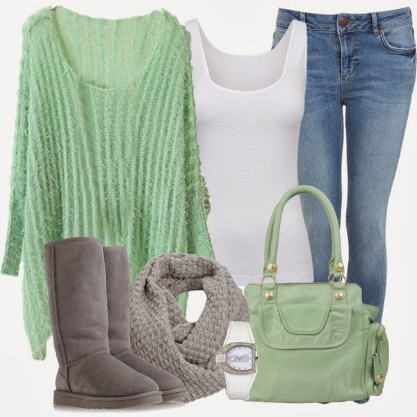 Winter Outfit: Colors Combos, Boots Outfits, Ugg Boots, Mint Green, Snow Boots, Winter Colors, Fashionista Trends, Winter Outfits, Winter Fashion