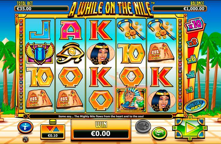 Er is geen tekort aan Egyptische online slots, maar natuurlijk is er altijd een ruimte voor meer.  A While On The Nile is een game ontwikkeld door NextGen Gaming, die afwijkt van de gebruikelijke Egyptische gerechten van piramides en sfinxen en geeft ons een uitzicht over de Nijl rivier. Het is een 5-reel slot met 4-rijen en 50 vaste winlijnen, Bonus Spel, Wild Symbool, Multiplier, Scatter Symbool en Gratis Spins