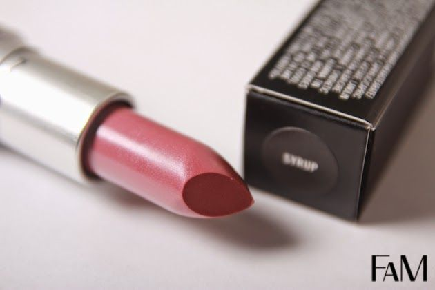 Mac Syrup lipstick Review, Swatches and Demohttp://futilitiesandmore.blogspot.ca/2014/04/mac-syrup-lipstick-review-swatches-and.html
