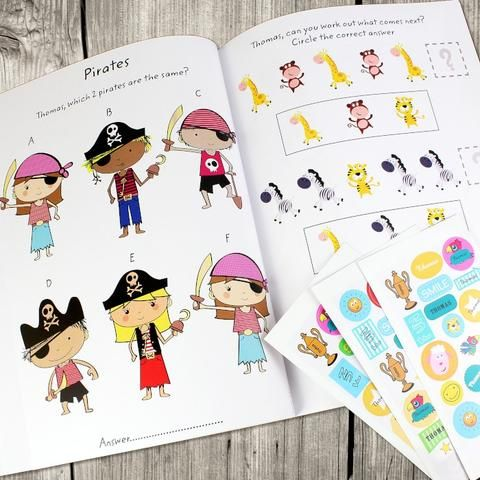 Our personalised activity book with stickers is a great gift to keep boredom at baypersonalise this activity book with a name