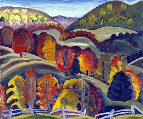 Autumn Hills by Prudence Heward | 1artclub.com - Hand painted oil ... Follow the biggest painting board on Pinterest: www.pinterest.com/atelierbeauvoir