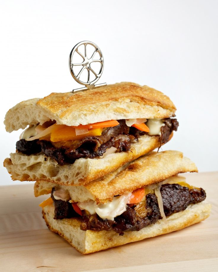 ... Short Rib Sandwiches | Recipe | Braised short ribs, Toms and Ribs
