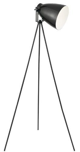 black tripod floor lamp with adjustable head by http