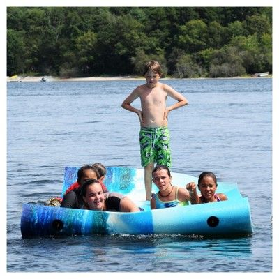 Chill Lake and Pool Drifter Island Graphic Water Mat - Dolphin Graphic (18'),
