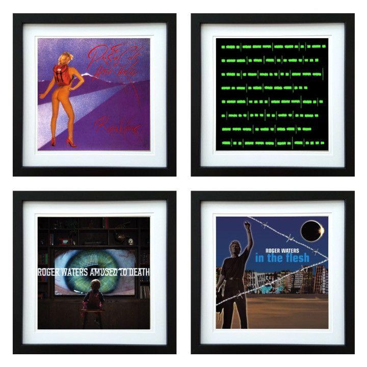 Roger Waters | Framed Album Art Set of 4 Images | ArtRockStore