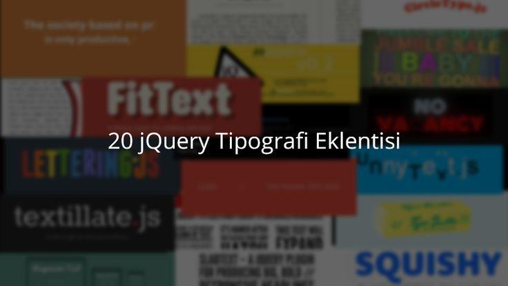 20 jQuery Tipografi Eklentisi