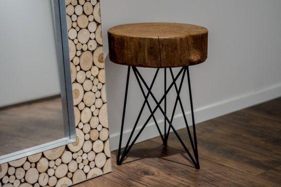 Table de chevet table lit dappoint bout de canapé par RefillDecor