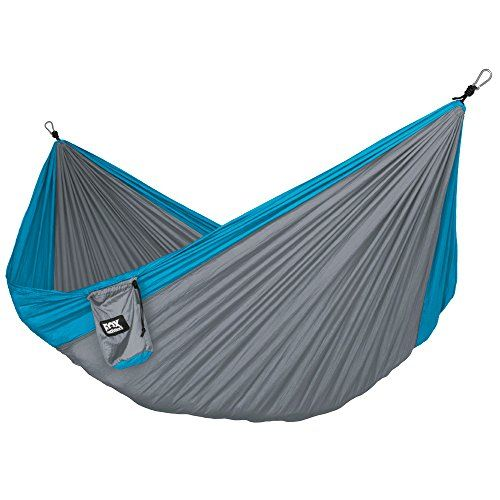 Neolite Double Camping Hammock - Lightweight Portable Nylon Parachute Hammock for Backpacking, Travel, Beach, Yard. Hammock Straps & Steel Carabiners Included Fox Outfitters http://smile.amazon.com/dp/B011362VO2/ref=cm_sw_r_pi_dp_4Ivpwb1N9SJZS