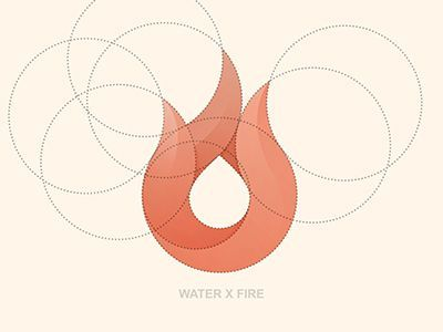 This is a neat example of a logo development. The curves on the flame really work for the simple nature of the design. It works how they show us the circles involved with creating the design.