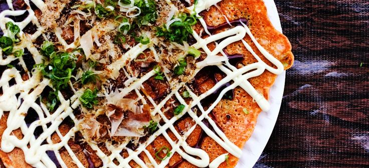 New favorite dish added from Contributing Chef Greg Dunmore. #Okonomiyaki from Namu Gaji. #crispy #gooey #savory #pancake #kimchee #kimchi #scallions #market #vegetables #veggies #bonito #flakes #oko #sauce #oysters #yamaimo #cabbage #kewpie #mayonnaise #mayo #comfortfood #korean #japanese #asianfusion #justfood #lunch #dinner #SF #chefsfeed