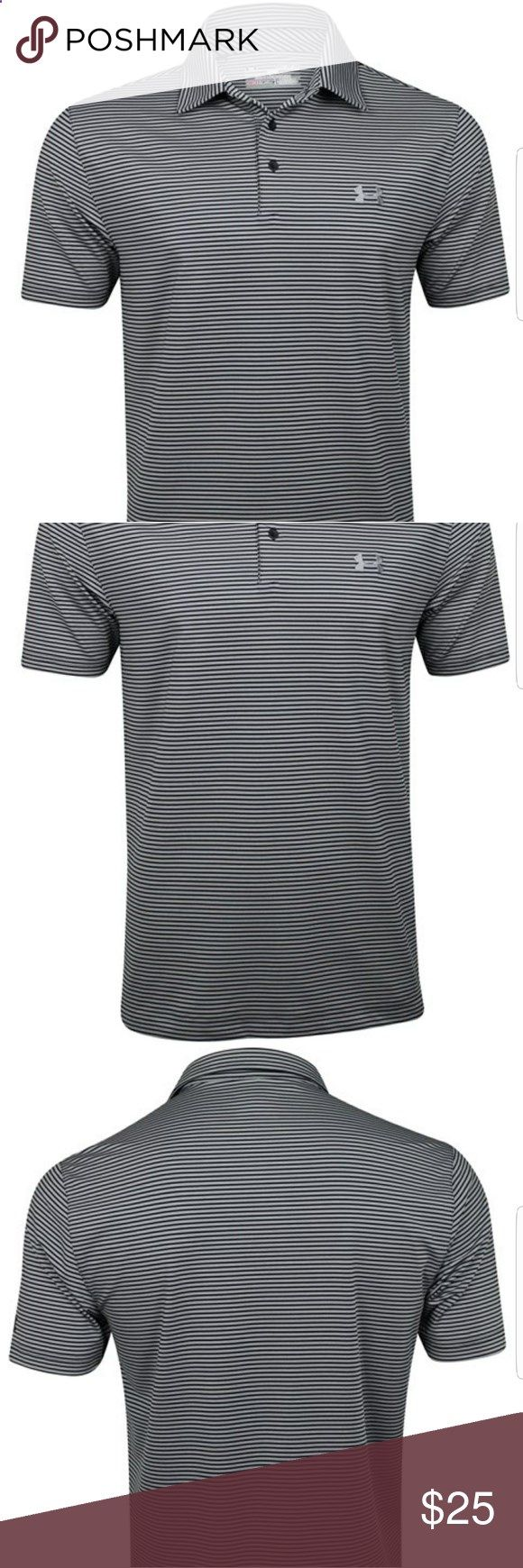 Golf Shirts - Under Armour Mens Golf Shirt Dry Wick Fabric Very lightweight and soft Under Armour Shirts