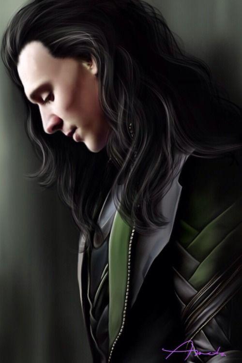 """Tom Hiddleston """"Loki"""" Fan art From http://foreverlokid.tumblr.com/post/104846607396/amatasera-loki-smittentomkitten"""