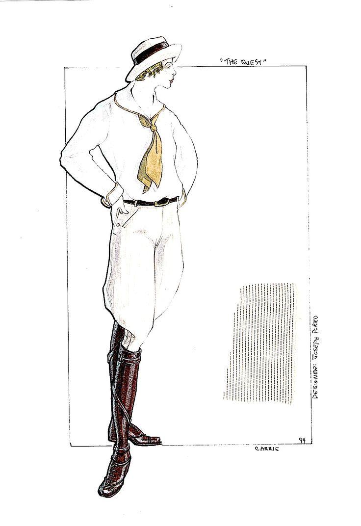 The Quest. Janet Gunn travel costume. #josephporrodesigns
