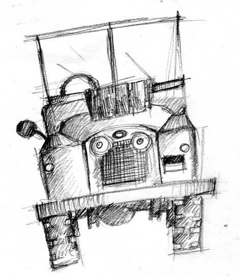land rover cartoon