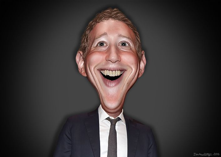 Mark Elliot Zuckerberg, aka  Mark Zuckerberg, is the chairman and CEO of Facebook.  This caricature of Mark Zuckerberg was adapted from a Creative Commons licensed photo from Presidencia de la República Mexicana's Flickr photostream.