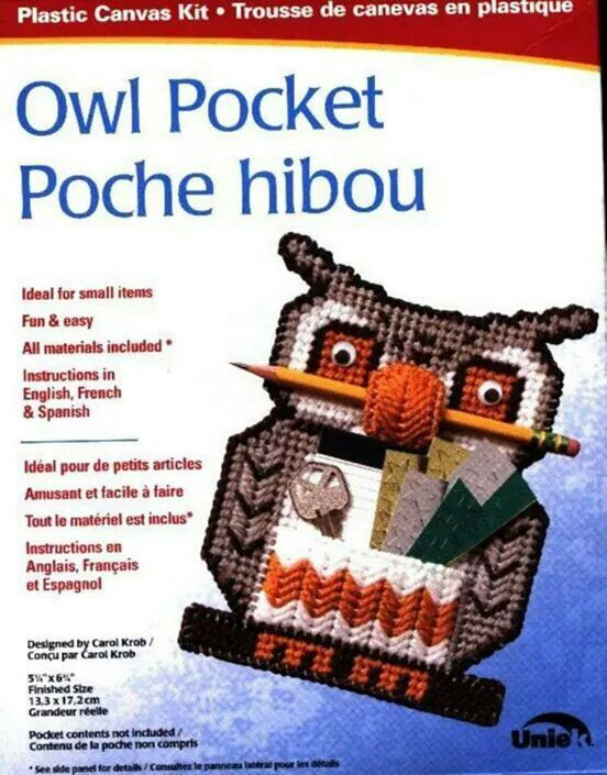 Cover only owl pocket ncs 803311 quick stitch plastic for Snowman pocket tissues