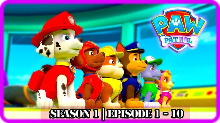 Paw Patrol | Season 1| Episodes 1-10 | The Best Cartoon English Nick Jr New