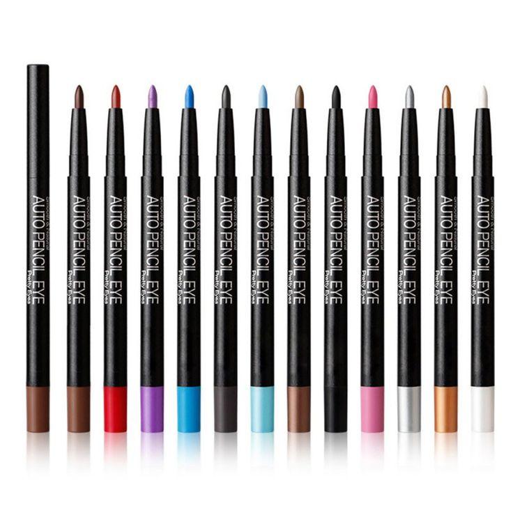 12 Colors Eyeshadow Eyeliner Pen Highlights Natural Long Lasting Waterproof Eye Shadow Pencil For Ladies Cosmetic Makeup SetLQ