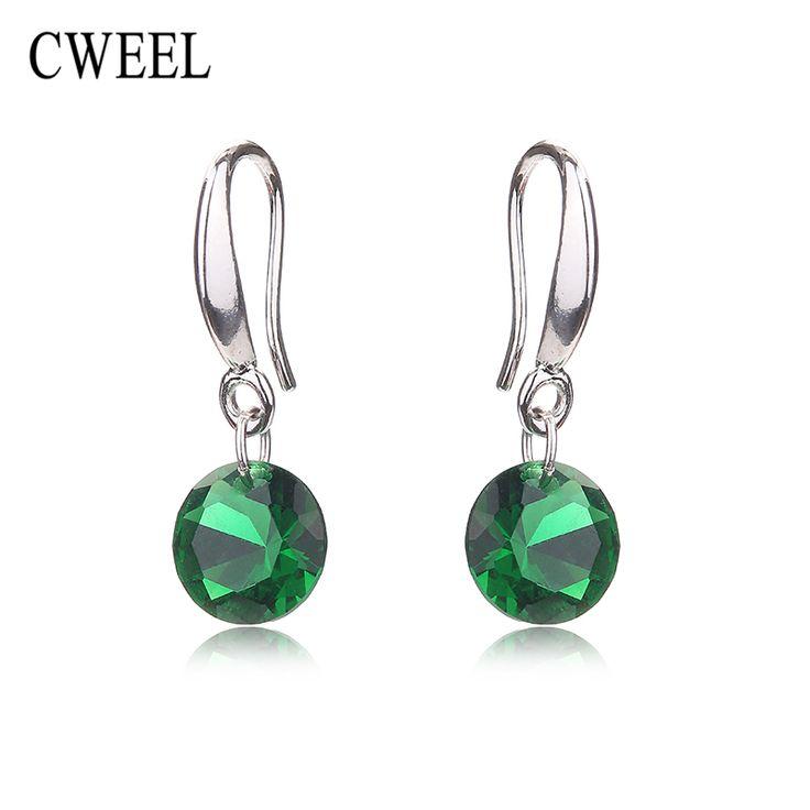 Cweel naśladować kryształ stadniny kolczyki kobiety akcesoria ślubne dla nastolatek bridal party wakacje mody kolczyk biżuteria