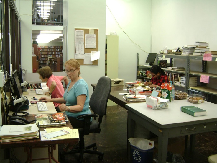 There's a lot of work to do behind the scenes at a library.