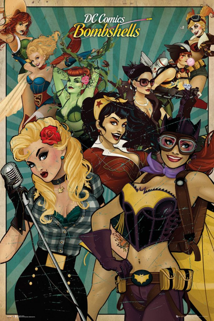 DC Comics Bombshells - Official Poster. Official Merchandise. Size: 61cm x 91.5cm. FREE SHIPPING