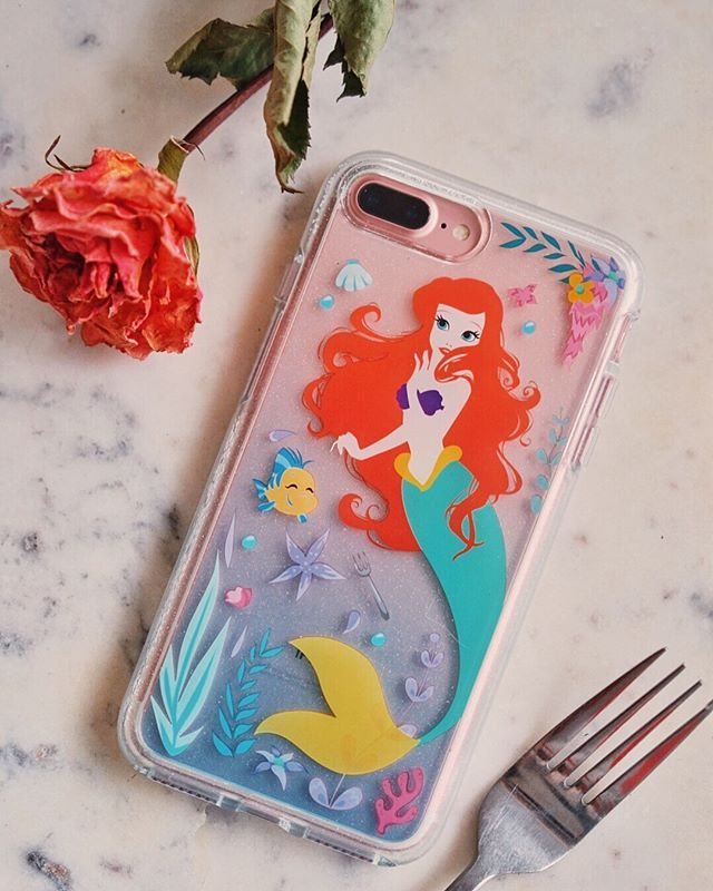 DISNEY THE LITTLE MERMAID FLORAL ARIEL SKETCH iphone case