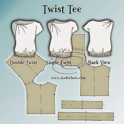 well-suited: Pattern Insights - Twist Tee