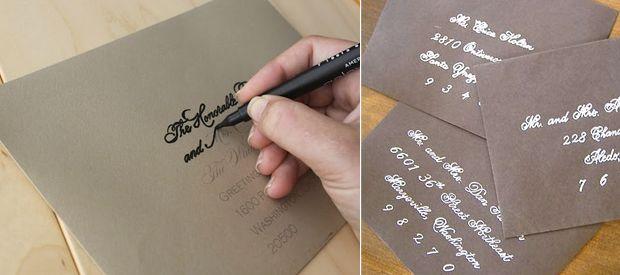 {DIY} Cómo hacer una bonita caligrafía para tus cartas o invitaciones de boda