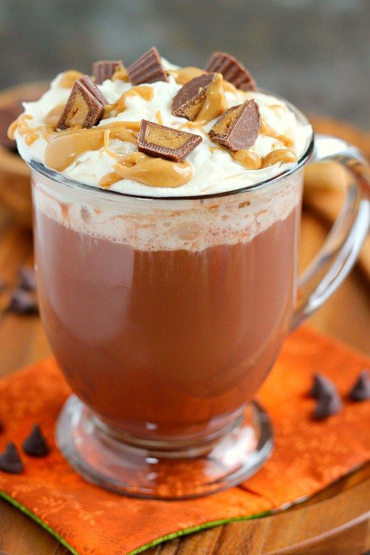 This Peanut Butter Cup Hot Chocolate is rich, creamy, and comforting. It's easy to make and tastes just like a peanut butter cup, drinkable form. This is the perfect drink to keep you warm all winter long!