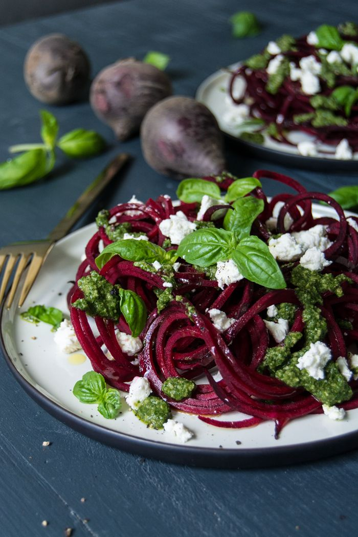 We all know that goats cheese and beetroot are a match made in heaven so this pretty little dish is our new favourite way of enjoying the Italian twist of spaghetti on our forks, with a crumble of goat's cheese,