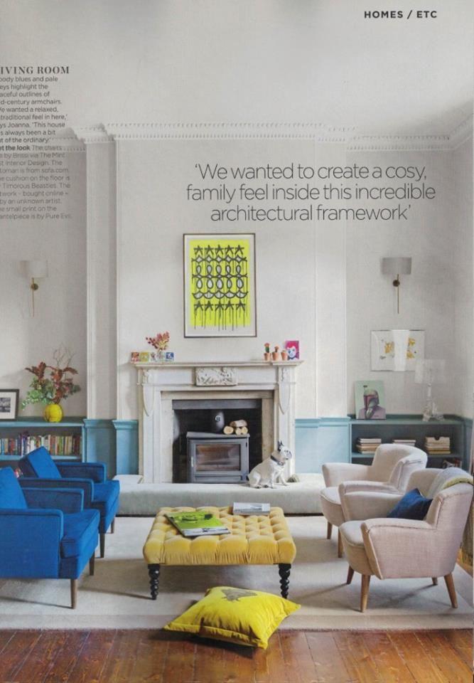 The Napoleon Bee Cushion In Honey Velvet Featured December Issue Of Living Etc Magazine