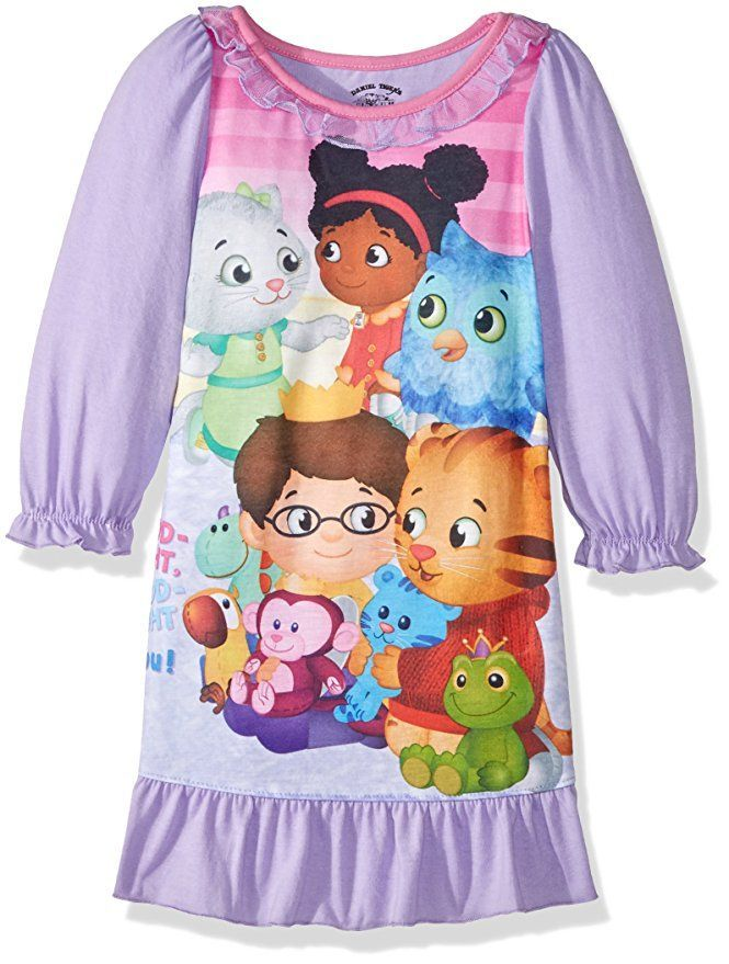2c991ad60e30 This cute Daniel Tiger sleep gown is perfect for your little girl! it has a  little bow on the neckline and ruffle fabric at the bottom for added  cuteness! ...