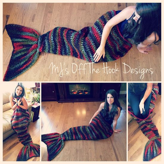 Mermaid Blanket Crochet Tail Pattern - our post includes loads of versions and…