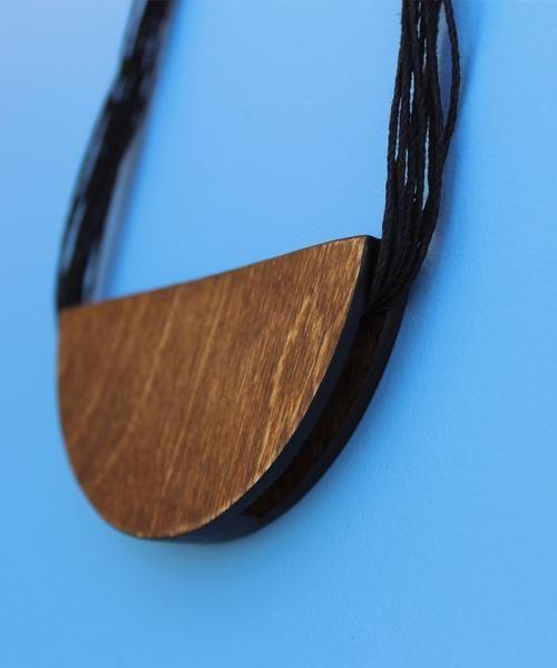 Half Moon Wood Statement Necklace Kit available at https://www.craftier.ca/products/wood-statement-necklace
