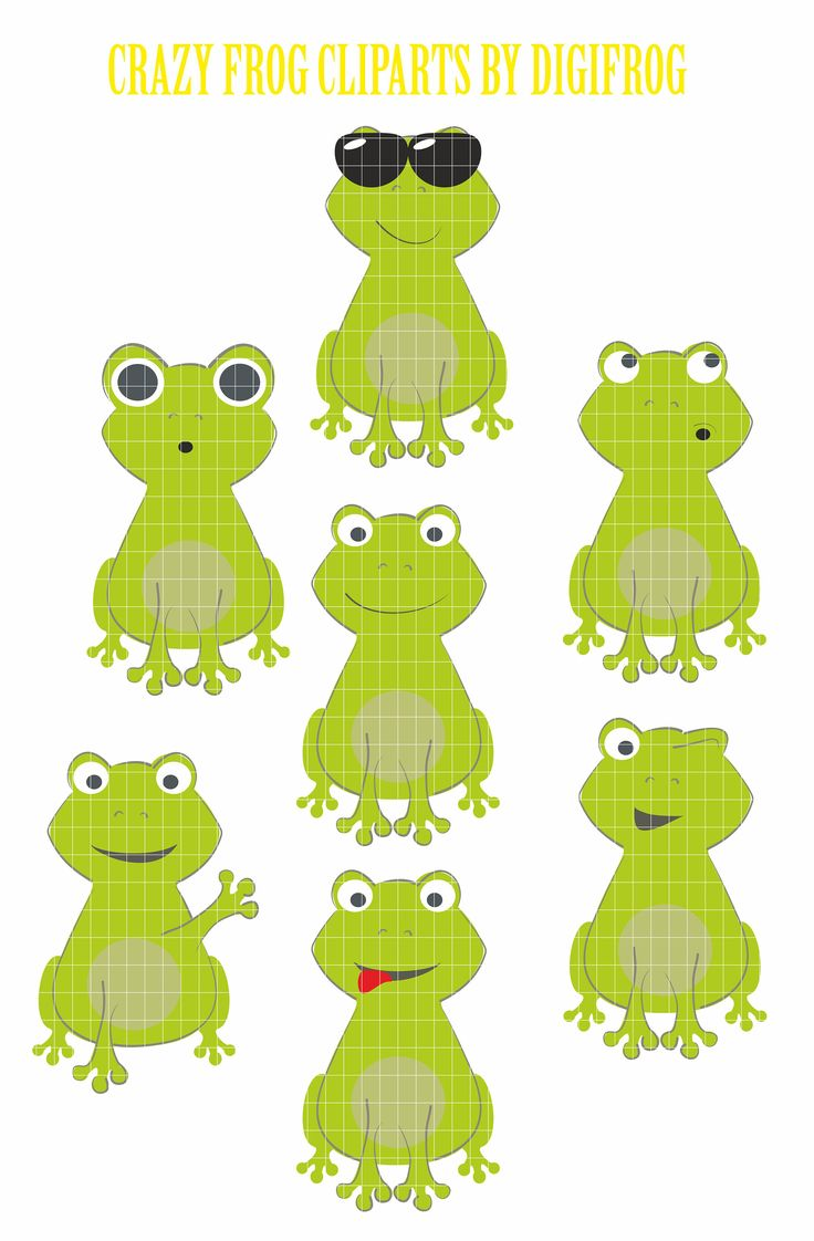 80%OFF Funny crazy frogs clipart, frog printable, scrapbook frog, nursery wall art, frog digital image, frog clipart, baby art by DigiFrog on Etsy