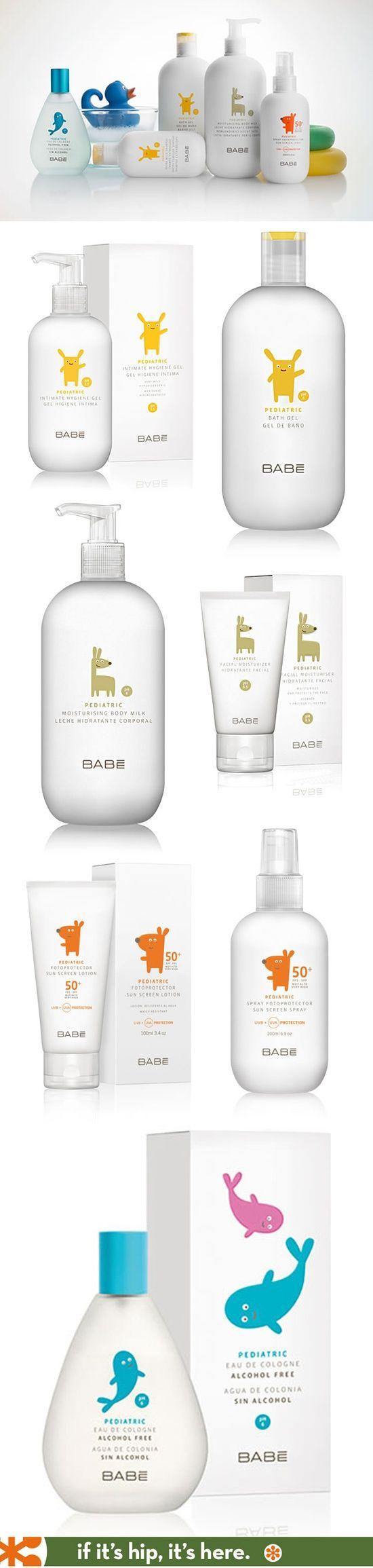 Nicely designed line of pediatric skin care (Babe Pediatrico) by Lavernia & Cienfuegos.