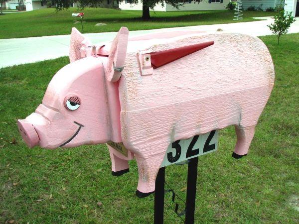 Pink Pig Mail Box