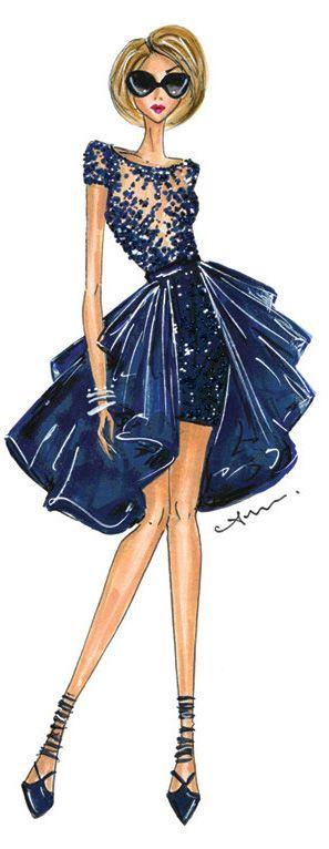 Fashion Illustration Print, Zuhair Murad by Anum Tariq