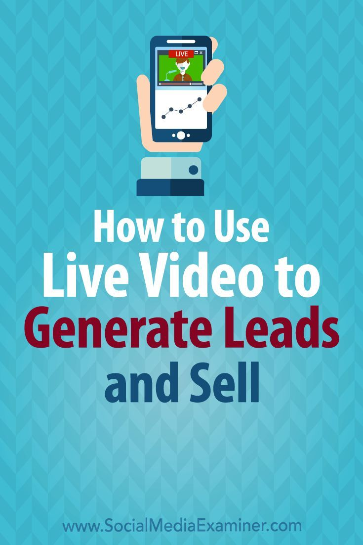 Wondering how live video can help you make money?  Looking for ways to increase the return on your investment in live video?  In this article, you��ll discover six ways to develop leads and boost sales using live video. #socialmedia #socialmediaexaminer #l