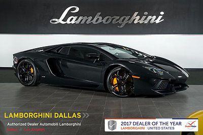 2012 Lamborghini Aventador LP700-4 Coupe 2-Door NAV+RR CAMERA+HOMELINK+SHINY BLACK WHLS+ORANGE CALIPERS+TRANSPARENT ENGINE