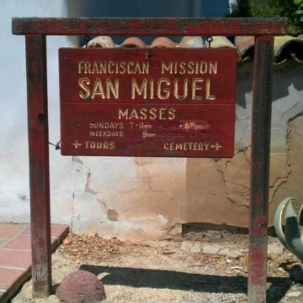 Photo taken at Mission San Miguel Arcángel by Elia R. on 7/1/2012