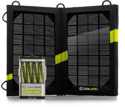 The Guide 10 Plus Adventure Kit Solar Charger boosts tablet power up to 25% and helps you charge up cell phones, GPS units and rechargeable batteries anywhere you go—just add sunlight! Available at REI, 100% Satisfaction Guaranteed.