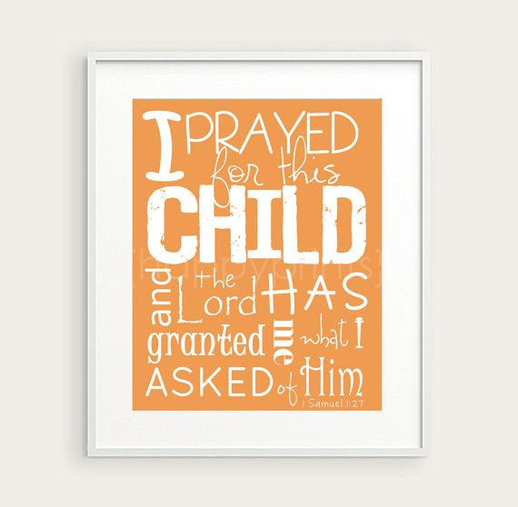 decoracion de oracion para el cuarto del bebe