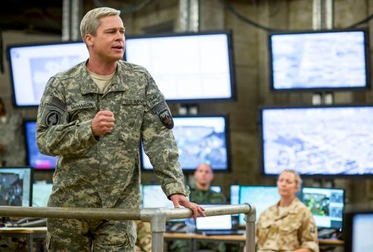 It should not require a spoiler alert to reveal that War Machine, the new Netflix movie starring Brad Pitt as a general who has everything in common with Stanley A. McChrystal except his name, ends with the resignation of its protagonist — or antagonist, depending on your point of view. Written...
