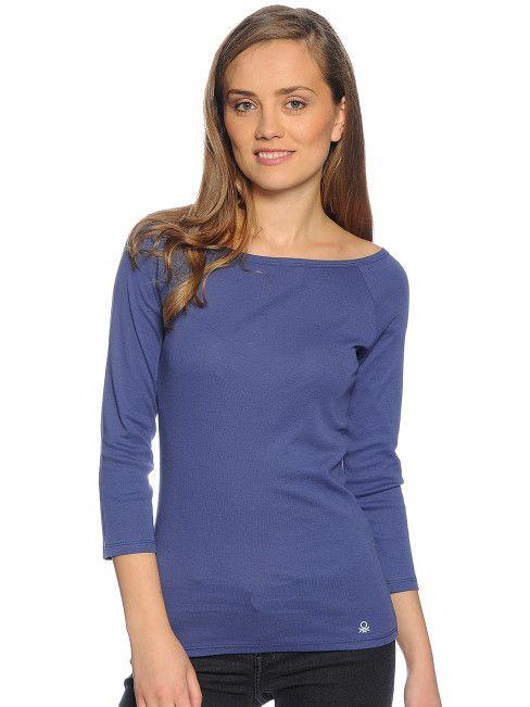 Benetton Long Sleeve Top, blue