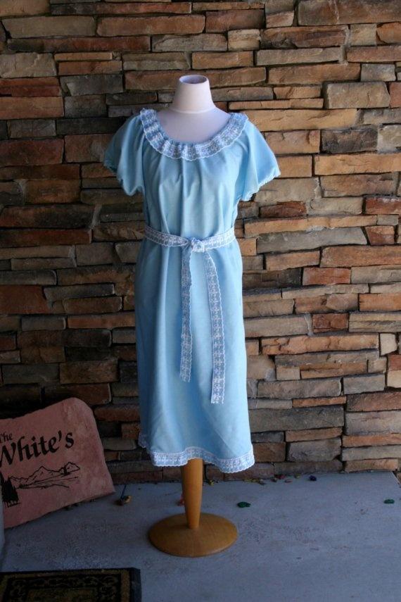 Vintage Tablecloth Linen Dress
