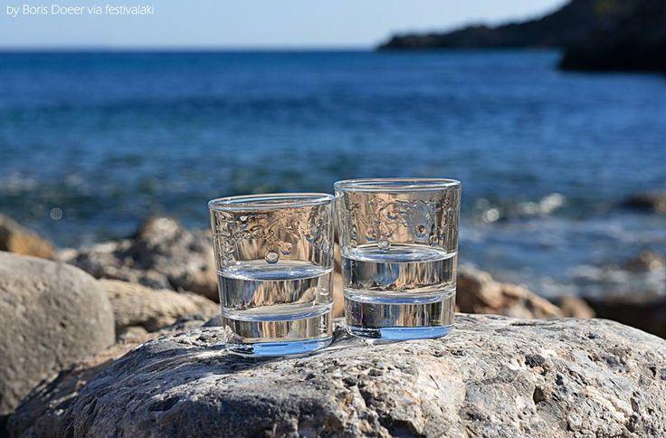 Cretan #Raki by the Sea | #Crete