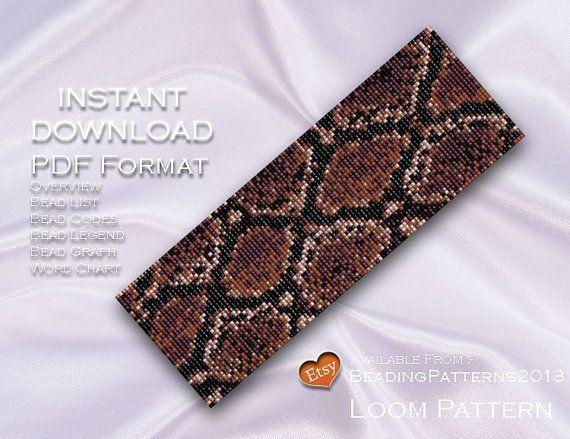 Tezgah Desen Bilezik Kol Boncuk Miyuki Delica Boyutu 11 Boncuk - PDF İndir - Python Snake Skin