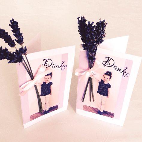 Ein kleines Dankeschön für die Erzieherinnen - Geschenk basteln - Karte - Lavendel