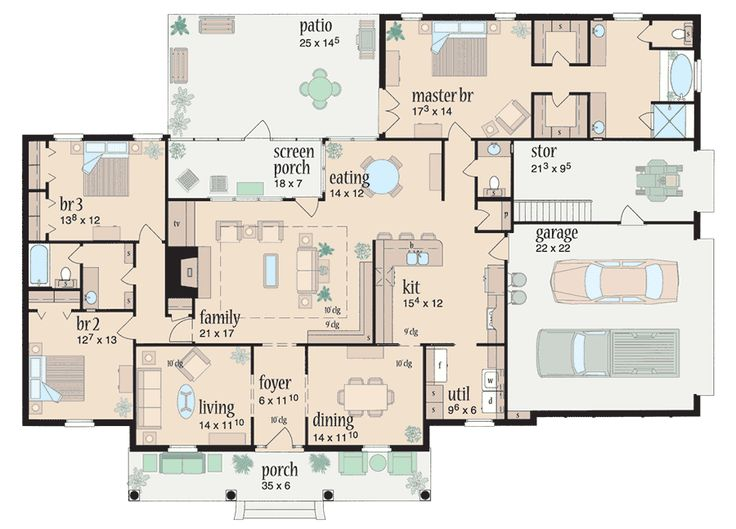 655 best house plans images on pinterest country houses for Simple southern house plans